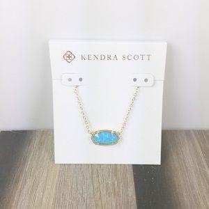 Kendra Scott Elisa ocean opal gold necklace